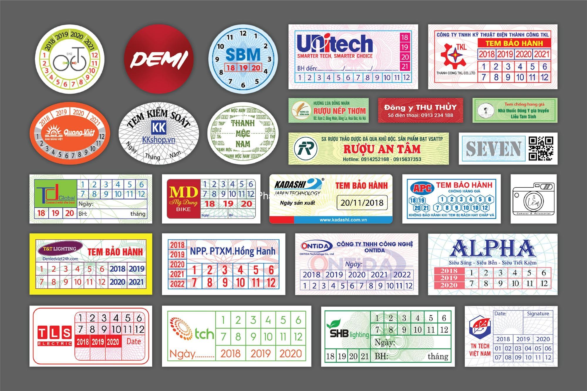 In tem bảo hành tại Ninh Thuận: địa chỉ in ở đâu uy tín chất lượng?