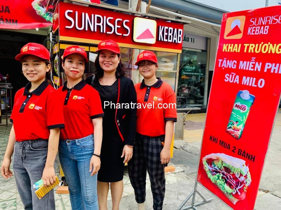 sunrise kebab: Nhượng quyền kinh doanh và 7 chi nhánh tại Ninh Thuận